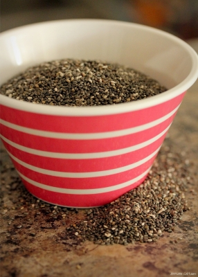 chia seeds bowl